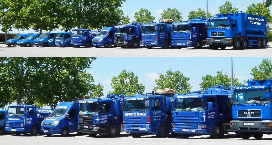 Vehículos equipados para desatascos en Torrent